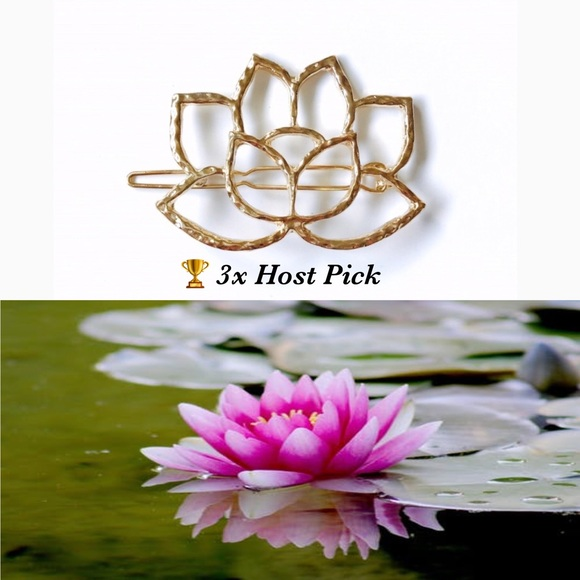 Accessories Gold Lotus Flower Hair Clip Only 1 Left Poshmark